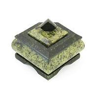 Шкатулка пятиугольная малая, камень змеевик
