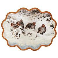Панно «Куропатки на снегу» (34х26 см)