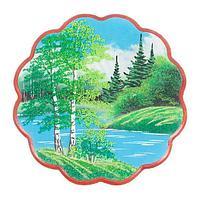 Панно «Летний пейзаж» круглое (36х36 см)