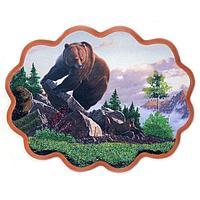 Панно «Медведь на камнях» (34х26 см)