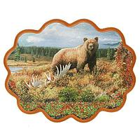 Панно «Медведь у реки» (34х26 см)