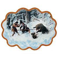 Панно «Охота на медведя» (вариант 3), (34х26 см)