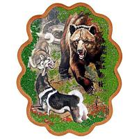 Панно «Охота на медведя» (34х26 см)