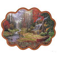 Панно «Охотничий домик у ручья» (34х26 см)