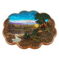 Панно «Озеро в горах» (25х19 см)