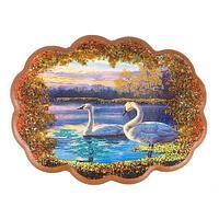 Панно «Пара лебедей» (25х19 см)