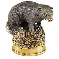 Стопка-перевертыш «Барсук», серебро с золочением