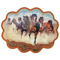Панно «Побег лошадей» (вариант 2), (34х26 см)
