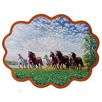 Панно «Побег лошадей» (вариант 3), (34х26 см)