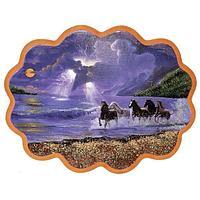 Панно «Побег лошадей» (34х26 см)