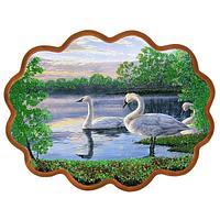 Панно «Семья лебедей» (34х26 см)