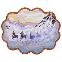 Панно «Снежный табун» (34х26 см)