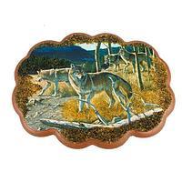 Панно «Стая волков» (вариант 2), (25х19 см)