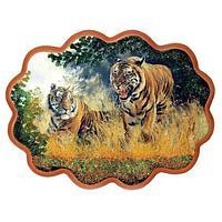 Панно «Тигры» (34х26 см)