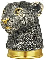 Серебряная Стопка-перевертыш «Леопард»
