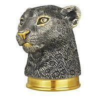 Стопка-перевертыш «Леопард», серебро с золочением