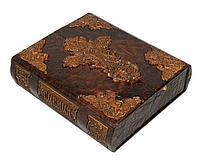 Книга «Библия (в коробе иконостас-складень с дер» в кожаном переплете