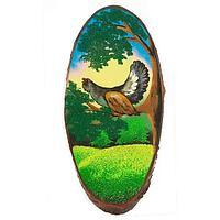 Картина для интерьера на дереве Глухарь на ветке 70х75см