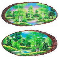 Картина на дереве «Лето», горизонтальное 100-105 см