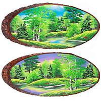 Картина на дереве «Лето», горизонтальное 95-100 см