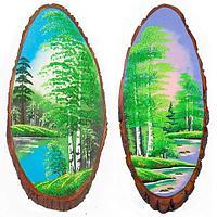 Картина на дереве «Лето» вертикальное 95-100 см
