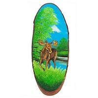 Картина на дереве «Лось лето» вертикальное 65-70 см