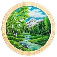 Панно на тарелке «Летний пейзаж» D-60см
