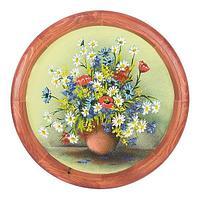 Панно на тарелке «Полевые цветы» D-40см
