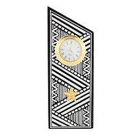 Часы Погон «генерал» цвет серебро, камень змеевик (вариант 2)