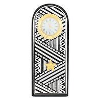 Часы Погон «генерал» цвет серебро, камень змеевик (вариант 4)