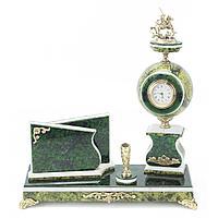 Мини-набор «Георгий Победоносец» змеевик зеленый 250х100х280 мм.