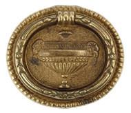 Ручка-кольцо, 'Louis XVI' 50х43мм, латунь пат., овал. накл., винт, 12210.05000.03