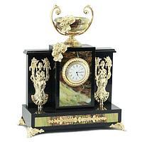 Часы «Изобилие», камень офиокальцит