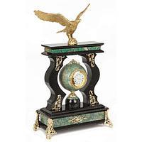 Часы «Орел» березит змеевик бронза - 375 мм.
