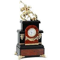 Каминные часы «Георгий Победоносец» яшма