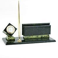 Настольный мини-набор «Куб», камень змеевик