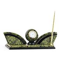 Настольный набор «Бабочка» (вариант 2), камень змеевик