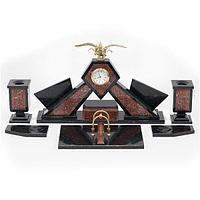 Настольный набор «Двуглавый орел» креноид бронза