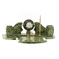 Настольный набор «Фантазия», камень змеевик