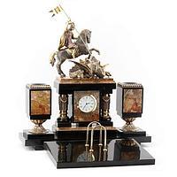 Настольный набор «Георгий Победоносец» (вариант 3), камень яшма