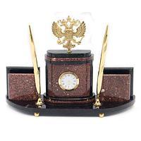 Настольный набор «Герб» бронза креноид