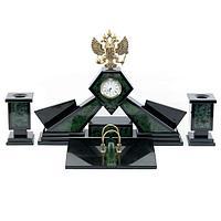 Настольный набор «Герб», камень нефрит