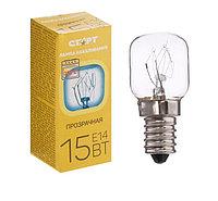 """Лампа накаливания для духовок и холодильников """"Старт"""", Е14, 15 Вт, 230 В, до 300 градусов"""