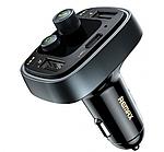 Автомобильный FM модулятор + зарядное устройство Remax RCC230 (2 USB порта + USB-C)
