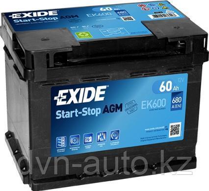 Аккумулятор Exide EK 600 AGM   60 Ah