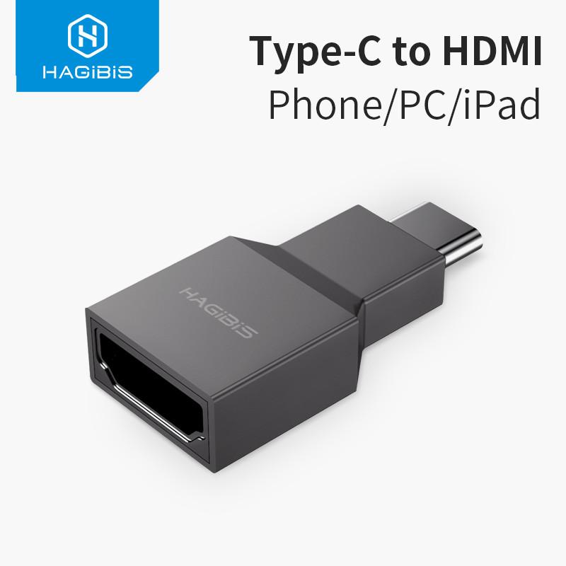 Переходник USB Type-C - HDMI 2.0, 4K mini HAGIBIS