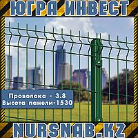 Ограждение 3,8 мм, высота панели - 1530 мм