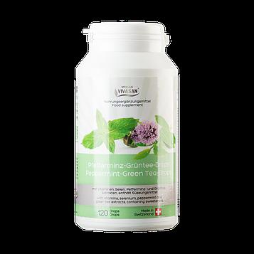 """Антиоксидант, профилактика онкологических забоеваний- таблетки """"Зеленый чай с мятой перечной"""""""
