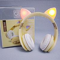 Накладные Bluetooth наушники с ушками кошки. Cat Ear M1., фото 1