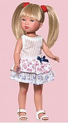 Карлота в плюшевым платье с рисунком